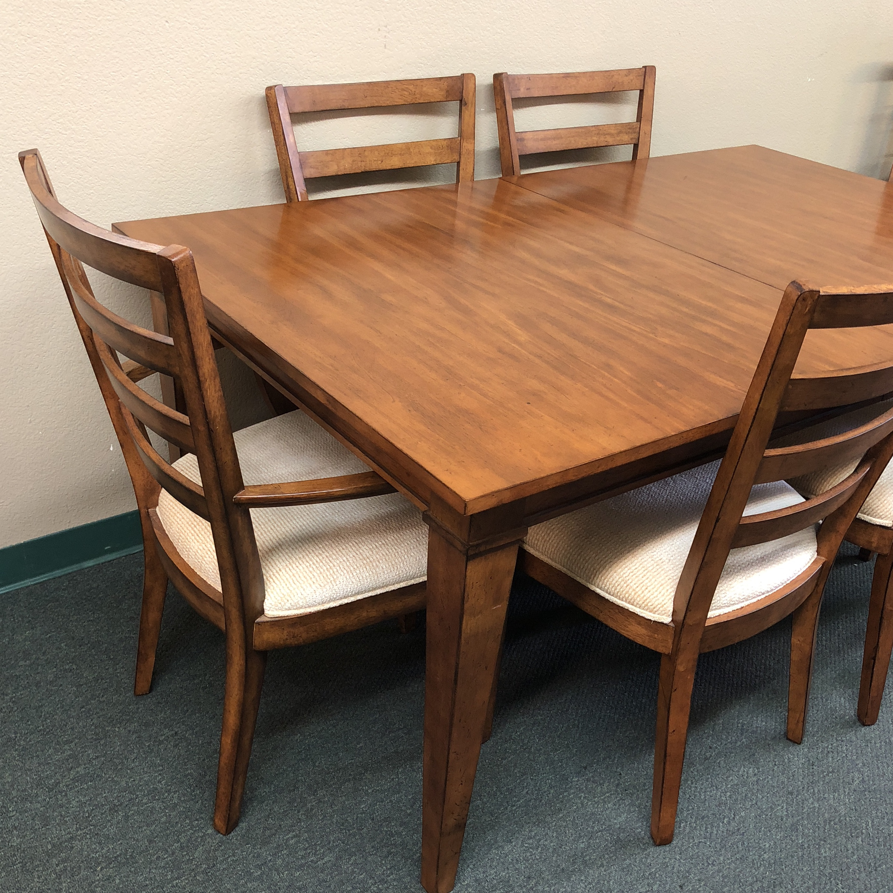 Traditional Ethan Allen Dining Set, Six Chairs For Sale   Image 3 Of 11