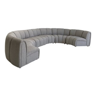 Mid Century Bernhardt Modular Curved Sectional For Sale