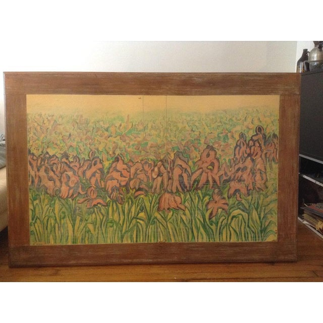 Wood Disenos Caaesa Mexican Painted & Carved Coffee Table For Sale - Image 7 of 8