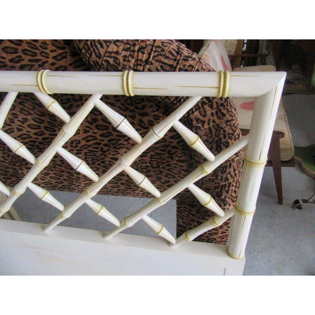 Vintage Faux Bamboo Chippendale Headboard - Image 5 of 7