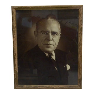 Vintage Black & White Photograph of Mayor David L. Lawrence , 1940 For Sale