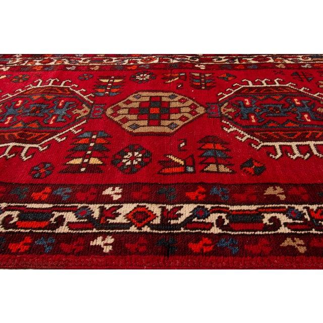 "Apadana - Vintage Persian Heriz Runner Rug, 3'1"" X 10'11"" For Sale In New York - Image 6 of 7"