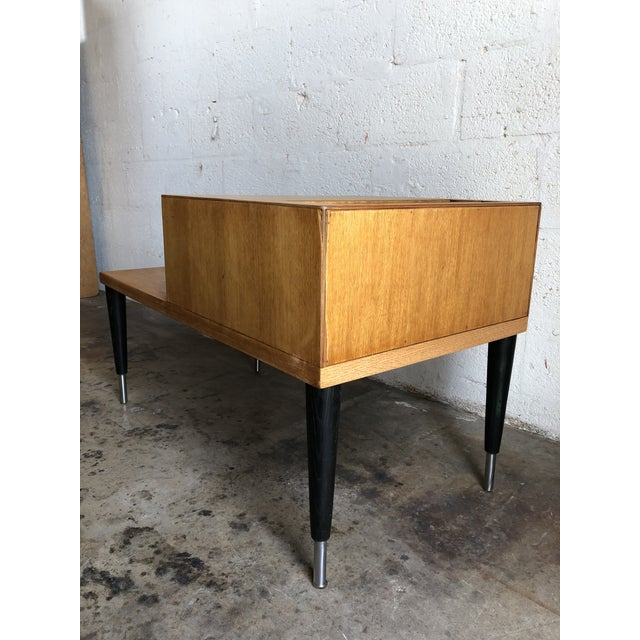 Tan Vintage Mid Century Modern Phone Table by Raymond Loewy for Mengel Furniture For Sale - Image 8 of 13