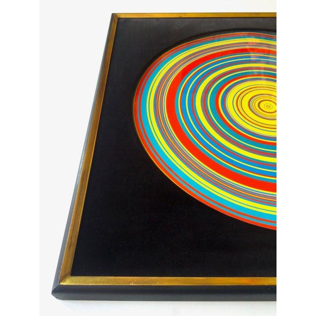 "1960s "" Tadasky "" Tadasuke Kuwayama Rare Vintage 1968 Mid Century Modern Framed Op Art Lithograph Print "" Whirling Circles "" For Sale - Image 5 of 13"