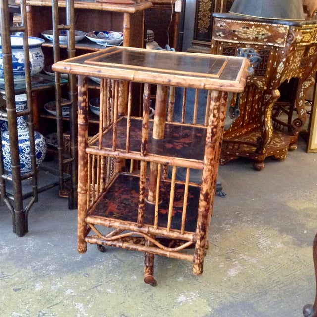 Chinoiserie Bamboo Revolving Bookcase For Sale - Image 13 of 13