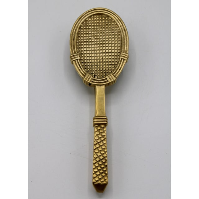 Vintage Solid Brass Tennis Racket Door Knocker For Sale - Image 11 of 11