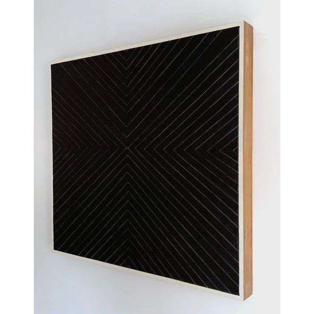 2010s Contemporary Black Geometric Abstract Painting For Sale - Image 5 of 12