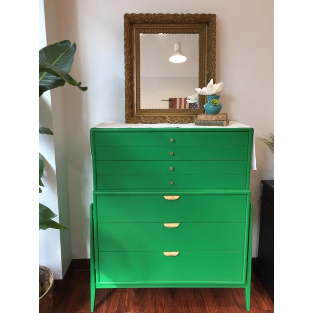 This gorgeous Kelly Green Mid-Century Modern Dresser is part of our Vintage Designer Collection and has been painted and...