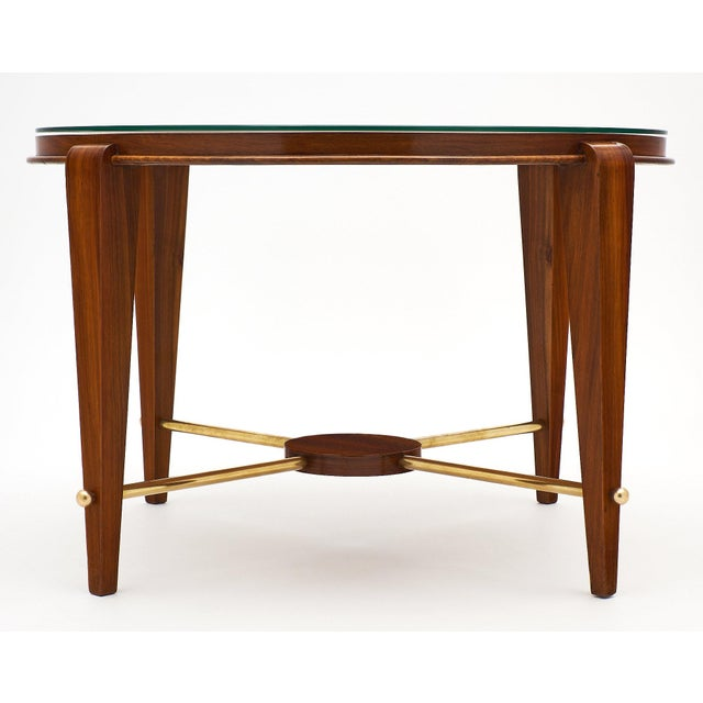 Art Deco Period Figured Walnut Gueridon Table For Sale - Image 4 of 10