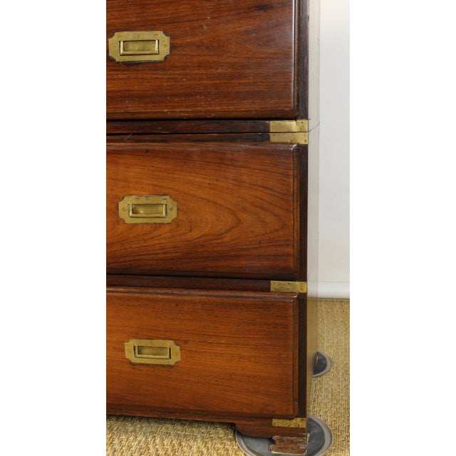 English Rosewood Campaign Chest of Drawers For Sale - Image 12 of 13