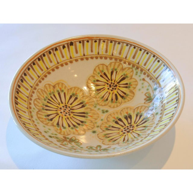 Mid-Century Janet Rothman Floral Bowl - Image 4 of 11