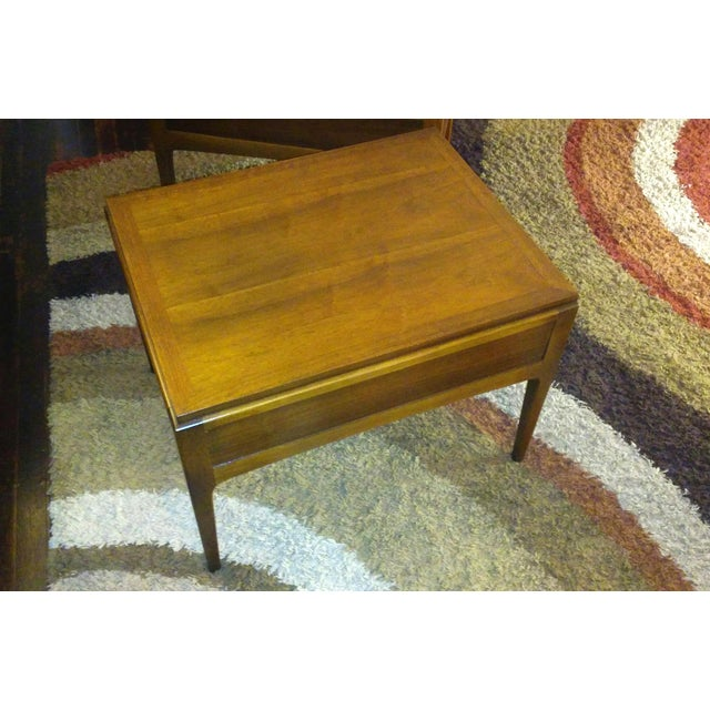Lane Mid-Century Single Drawer End Tables - A Pair - Image 7 of 10