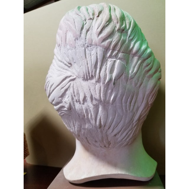 Mid 20th Century Life-Size Terracotta Bust by Herman Roderick Volz For Sale - Image 5 of 11