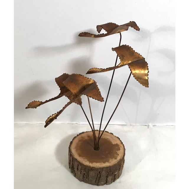 """Contemporary Vintage Brutalist """"Geese in Flight"""" Metal Sculpture For Sale - Image 3 of 11"""