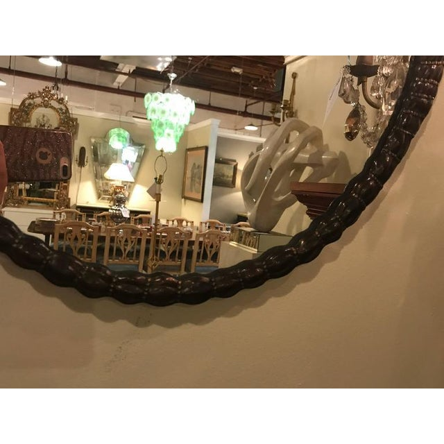 Glass Signed Erte Mirror Terminating in Two Kissing Lovers Both Woman For Sale - Image 7 of 11
