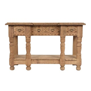 French 19th Century Baroque Bleached Sideboard For Sale
