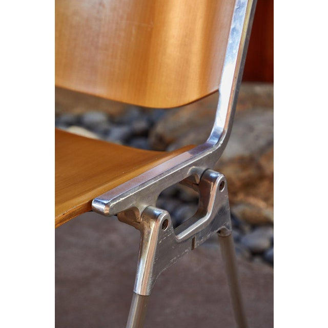 Brown 1960s Vintage Giancarlo Piretti for Castelli Stackable Chairs- Set of 6 For Sale - Image 8 of 9