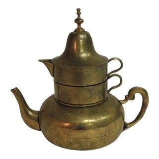 RrVintage Morrocan Brass Coffee Serving Set