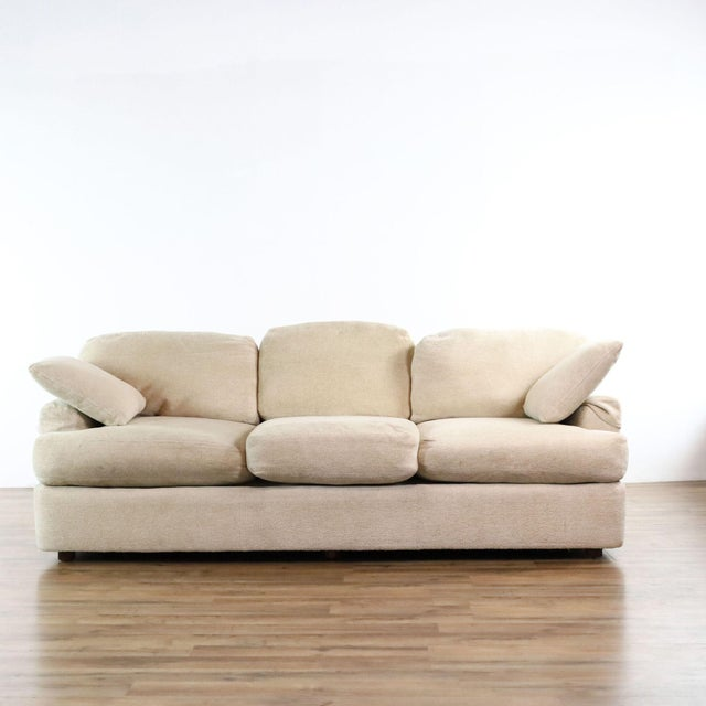 Henredon Upholstered Ivory Sofa For Sale - Image 11 of 11