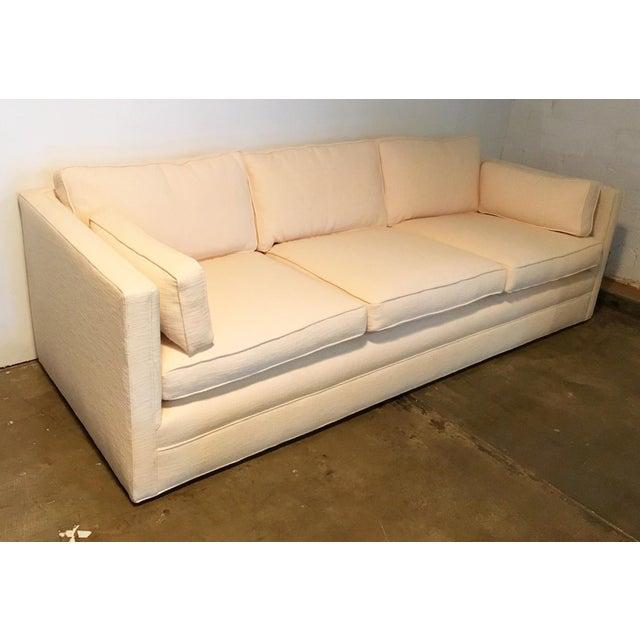 Knoll Tuxedo Linen Sofa - Image 4 of 10
