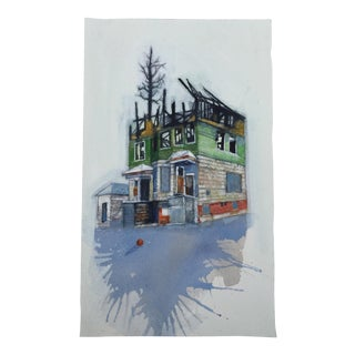 """""""After the Fire"""" Original Watercolor Painting For Sale"""