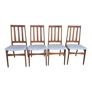 1950s Mid-Century Modern Teak Dining Chairs - Set of 4 For Sale