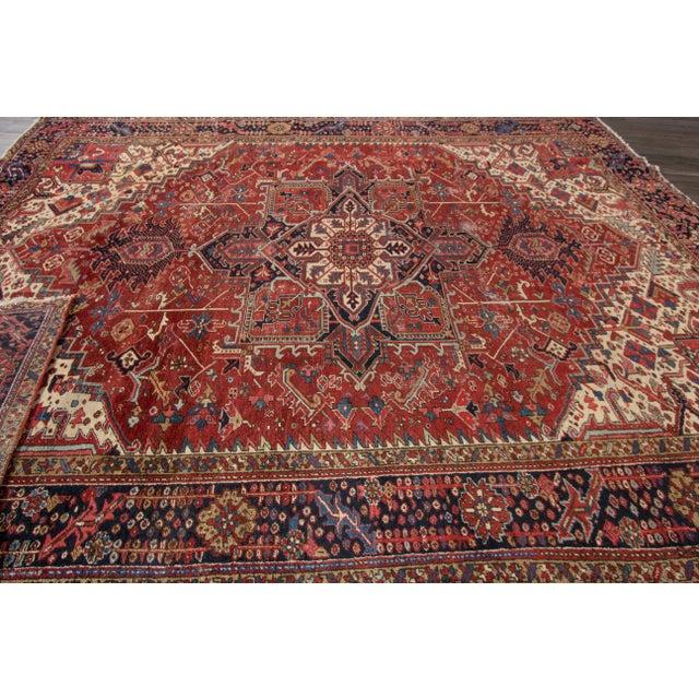 "Textile Apadana - Vintage Persian Rug, 9'3"" x 12'7"" For Sale - Image 7 of 7"