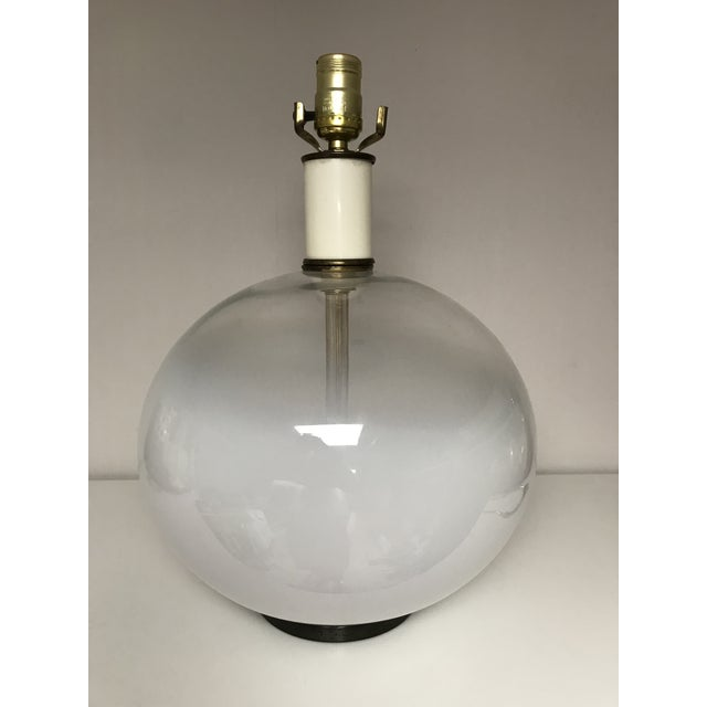 The opaque white bottom transcending to a crystal clear top is typical for the work of Vistosi to whom this original...
