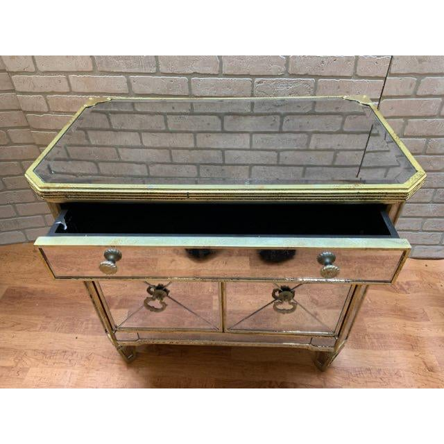 Hollywood Regency Style Butler Specialty Company Mirrored Console Cabinet For Sale In Chicago - Image 6 of 13