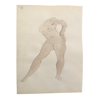 Mid-Century Female Nude Painting For Sale