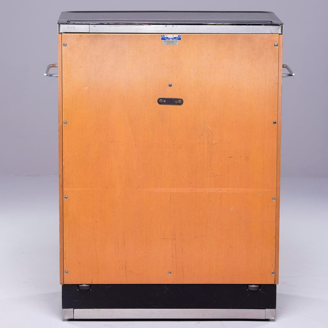 Art Deco Era Medical Cabinet in Maple and Black For Sale - Image 4 of 13