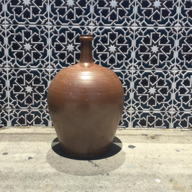 French Vintage French Pottery Jug For Sale - Image 3 of 6