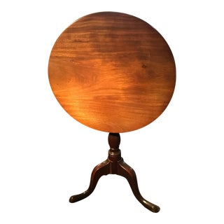 English Tilt-Top Round Table For Sale