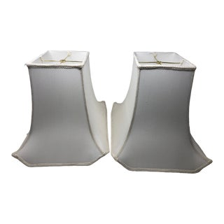 Pagoda Shaped Lampshades - a Pair For Sale