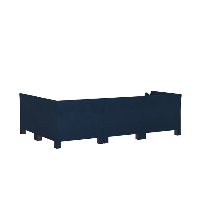 Velvet Ink 4 Piece Sectional For Sale - Image 4 of 9