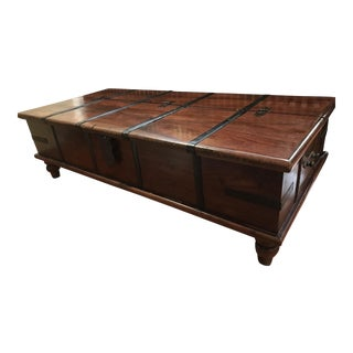 Vintage Trunk Coffee Table With Storage