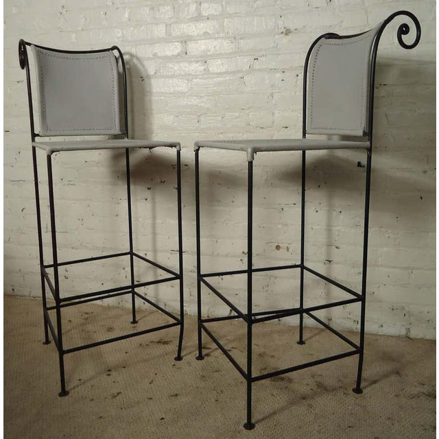 Metal Pair of Sculpted Shaver Howard Midcentury Stools For Sale - Image 7 of 7