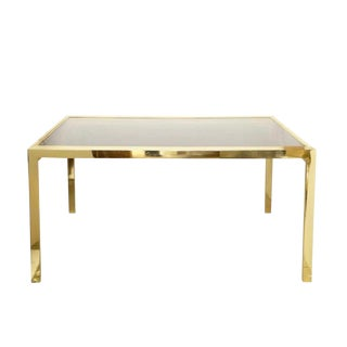 Dia Extending Brass Dining Table For Sale