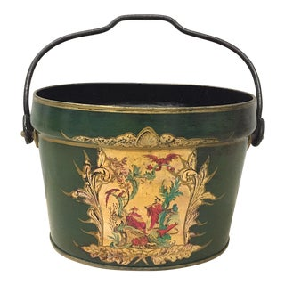 Tole Chinoiserie Bucket - F. Francis & Son England For Sale