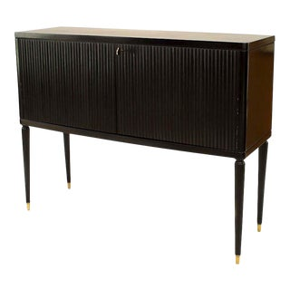Italian 1940 Ebonized Commode For Sale