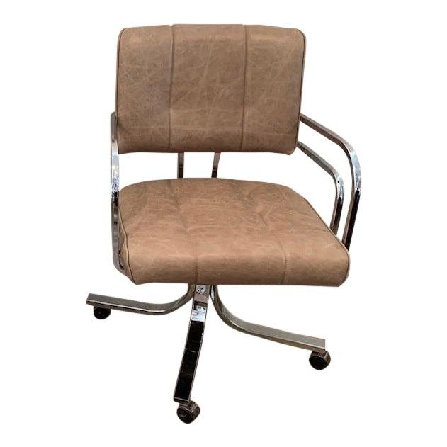 1980s Swivel Rocker Desk Chair For Sale