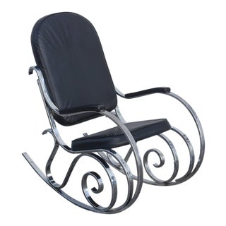 Maison Jansen MCM Chrome Rocker, 1970, France For Sale