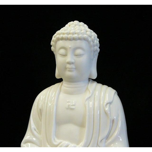 Chinese White Porcelain Buddha on Base Statue - Image 6 of 7