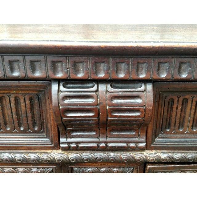 19th C. Renaissance Revival Figural Carved 3 Door Sideboard Server - Image 9 of 10