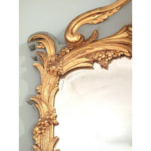 French Louis XV Style Painted and Gilt Mirror - Image 8 of 11