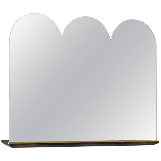 Modern Phaedo Scalloped Propped Vanity Mirror For Sale - Image 3 of 3