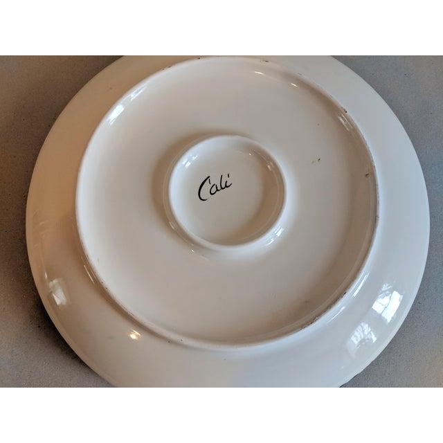 Ceramic Majolica Palissy Style Ceramic Serving Platter For Sale - Image 7 of 8