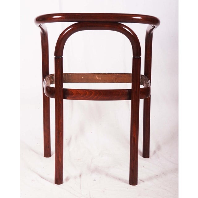 Vintage beechwood chair by TON For Sale - Image 6 of 8