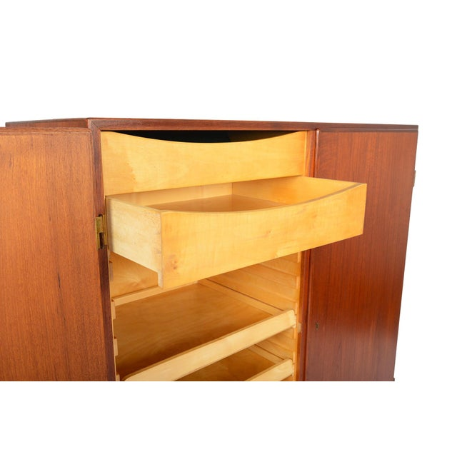Tall Danish Modern Teak Bureau - Image 7 of 10