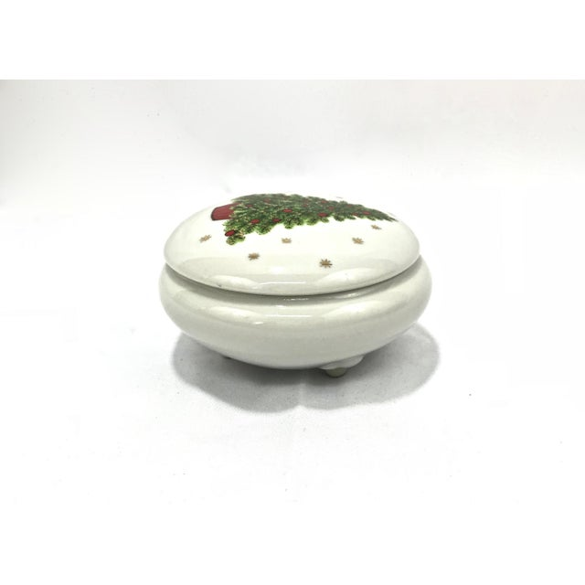 Christmas Tree Porcelain Box For Sale - Image 4 of 9